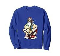 Gay Pride Month Santa Lgbtqqiaap Christmas Rainbow Holiday Shirts Sweatshirt Royal Blue