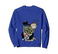 Steampunk Vintage The Clock Maker Shirts Sweatshirt Royal Blue