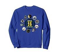 Project Gemini Missions Patch Badge Nasa Shirts Sweatshirt Royal Blue