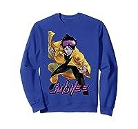 X Jubilee Modernized Classic Look Graphic Shirts Sweatshirt Royal Blue