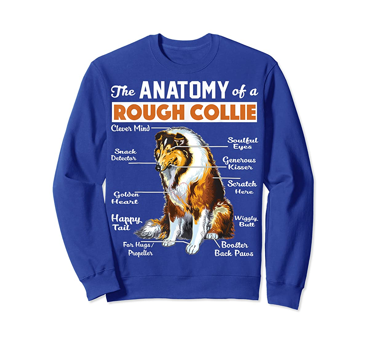 The Anatomy Of A Rough Collie-Sweatshirt-Royal