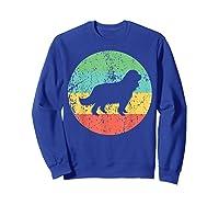 Cavalier King Charles Spaniel Retro Dog Shirts Sweatshirt Royal Blue