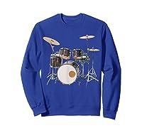 Awesome Drum Set Rock Music Band Shirts Sweatshirt Royal Blue
