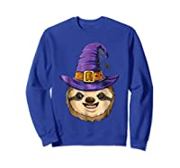 Sloth Witch T Shirt Halloween Girls Funny Costume Sweatshirt Royal Blue