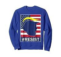 Resist Protest Rebel Political Anti Trump Impeach T Shirt Sweatshirt Royal Blue