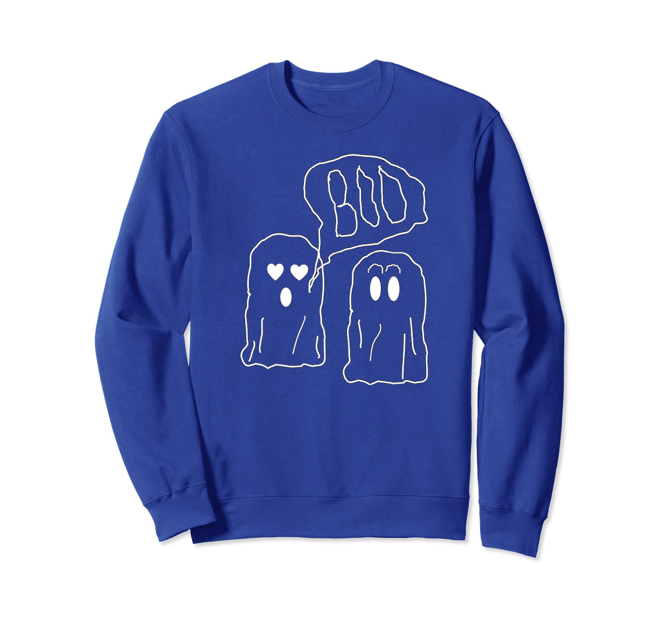 Cute Ghost Boo Love Halloween Sweatshirt-ANZ