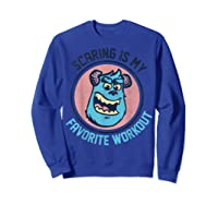 Pixar Monsters University Sulley Face Shirts Sweatshirt Royal Blue