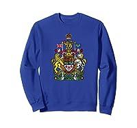 Canada Coat Of Arms Flag Souvenir Ottawa Shirts Sweatshirt Royal Blue