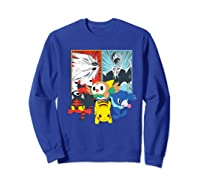 Alola Starters With Legendaries Shirts Sweatshirt Royal Blue