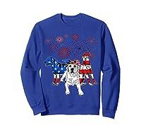 Labrador 4th Of July America Flag Gifts Shirts Sweatshirt Royal Blue