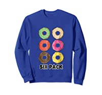 Funny Donut Six Pack Muscle T Shirt Sweatshirt Royal Blue