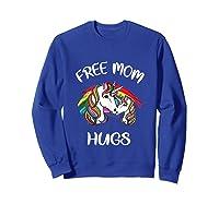Free Mom Hugs Rainbow Gray Pride Lgbt Funny Tank Top Shirts Sweatshirt Royal Blue