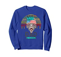 Funny Fathers Day Best Dad Ever Gorilla 4th Of July Premium T-shirt Sweatshirt Royal Blue