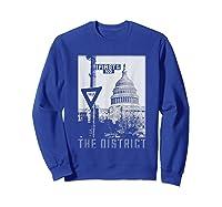 Vintage Washington Dc District Of Columbia T Shirt Sweatshirt Royal Blue