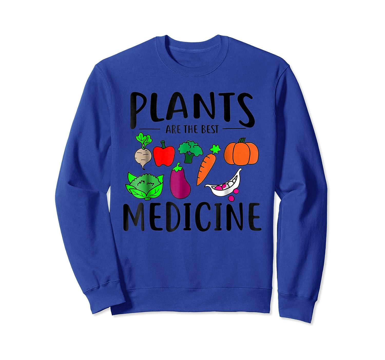 Plants Are Best Medicine, Vegan, Vegetarian Shirts Crewneck Sweater