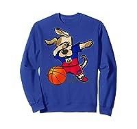 Dog Dabbing Haiti Basketball Haitian Sport Team Shirts Sweatshirt Royal Blue