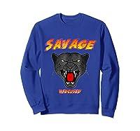 Savage T Shirt Wild Black Panther Focused Sweatshirt Royal Blue