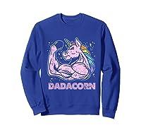 Father's Day Gif Funny Dadacorn Shirts Sweatshirt Royal Blue