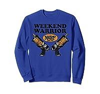 Hasbro Nerf Blaster Weekend Warriors T-shirt Sweatshirt Royal Blue