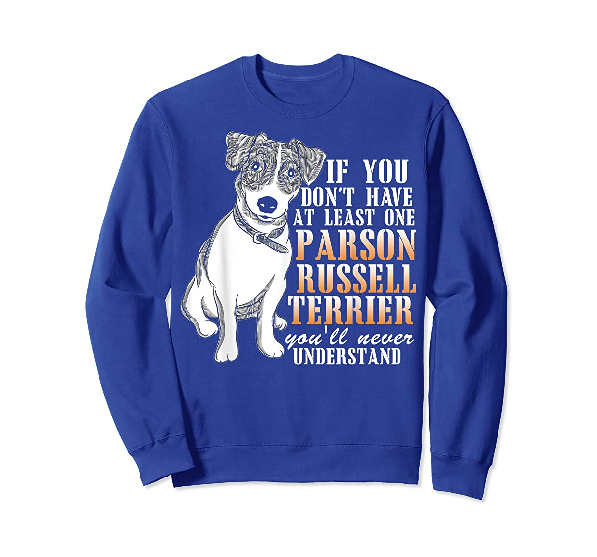 Parson Russell Terrier T Shirt, I Love My Dog T Shirt-Sweatshirt-Royal