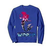 Disney Little Mermaid Your World Graphic T-shirt Sweatshirt Royal Blue