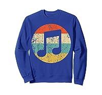 Musician Retro Musical Notes T-shirt Sweatshirt Royal Blue