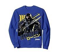 Avengers Endgame Ronin Sunset Graphic Shirts Sweatshirt Royal Blue