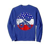 American Flag Car Mechanic Shirt - Screwdriver Wrench Shirt Sweatshirt Royal Blue