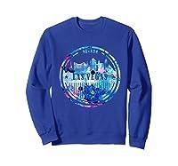 Watercolor Las Vegas Shirt Nevada City Gift Sweatshirt Royal Blue
