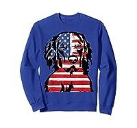 Funny Hovawart American Flag 4th Of July Shirts Sweatshirt Royal Blue
