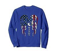 Qanon Rabbit Flag T Shirt Sweatshirt Royal Blue