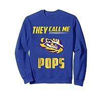 Lsu Tigers They Call Me Pops T-shirt - Apparel Sweatshirt Royal Blue
