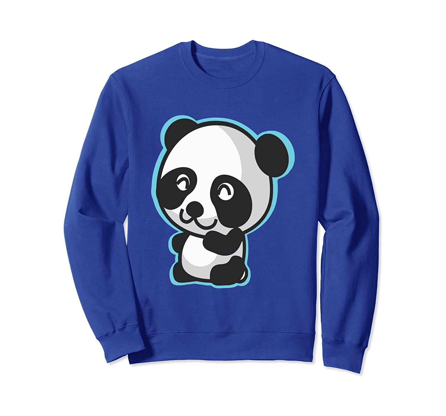 Cute Baby Panda Bear Smile Bamboo Zoo Animal SWEATSHIRT-ANZ