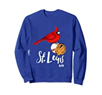 Saint Louis Red Cardinal Shirt 2019 Bird Player Sweatshirt Royal Blue