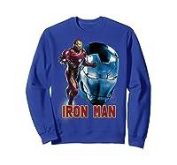 Avengers Endgame Iron Man Side Profile Graphic Shirts Sweatshirt Royal Blue