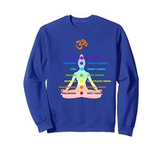 Amazon.com: Chakras Yoga Meditation Spirituality Sweatshirt ...