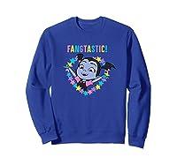 Disney Vampirina Fangtastic T Shirt Sweatshirt Royal Blue