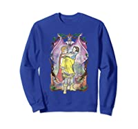 Snow Distressed Poster Style Graphic Shirts Sweatshirt Royal Blue