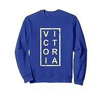 Stylish Victoria T Shirt Sweatshirt Royal Blue