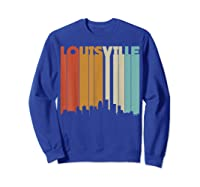 Louisville Retro Skyline City T Shirt Souvenir Skyline Sweatshirt Royal Blue