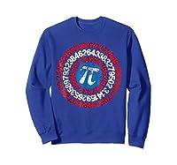 Captain Pi Superhero Shield Funny Math Pi Day Shirts Sweatshirt Royal Blue