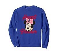 Disney Minnie Heartbreaker T Shirt Sweatshirt Royal Blue
