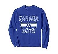 Retro Canada Soccer Team 2019 Shirts Sweatshirt Royal Blue