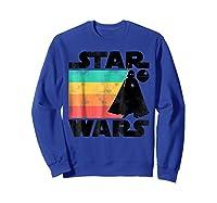 S Darth Vader Retro Stripes Baby Death Star Shirts Sweatshirt Royal Blue
