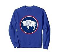 Wing State Flag Patriotic Shirts Sweatshirt Royal Blue