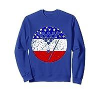 American Flag Billiards Vintage Retro Pool Shirts Sweatshirt Royal Blue