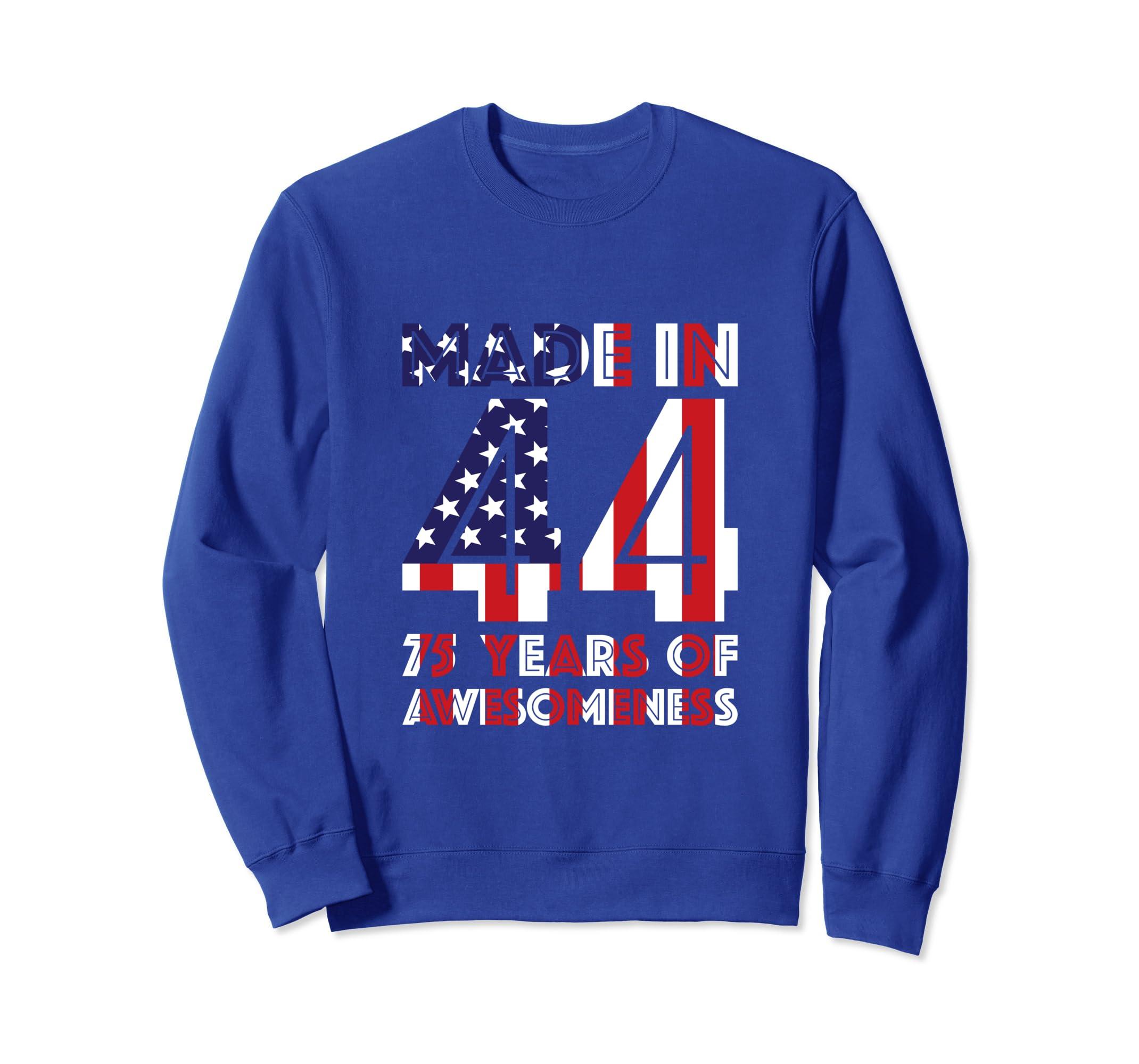 Amazon 75th Birthday Sweatshirt Gifts Men Age 75 Year Old Grandpa Clothing