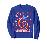 Festive 4th Of July, Independence Day Design Shirts Sweatshirt Royal Blue