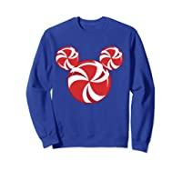 Disney Christmas Candy T Shirt Sweatshirt Royal Blue