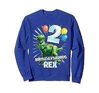 Disney Pixar Toy Story Birthdaysaurus Rex 2nd Birthday T-shirt Sweatshirt Royal Blue